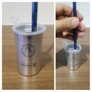 【左利き用アルミ鉛筆削り】 オシャレなシルバーカラーの左利き専用の鉛筆削りです。 ¥759(税込)