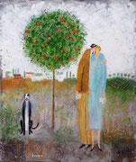 愛のキッス 油彩 45,5x38cm