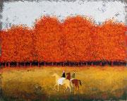 「郊外の森まで」 油彩 45.5x60.6cm 販売済