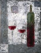 「レッド ワイン」 油彩 45.5x32cm 販売済