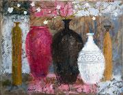 「花瓶」 油彩 32x45.5cm