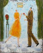 愛の告白 油彩 45,5x38cm