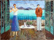 「海の響き」 油彩 50x60.6cm