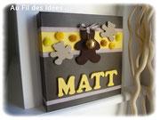 "Tableau prénom ""Matt"" - Création fév 2011"
