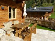 Terrasse mit Wärmelampe