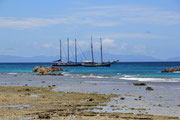 Sea Star und Sea Pearl vor La Digue