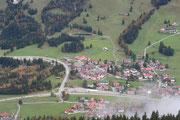 Blick vom Berg nach Oberjoch