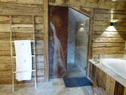 Dusche im oberen Schlafzimmer