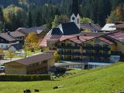 Blick auf das Hotel in Balderschwang
