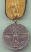 Medal olimpijski srebrny