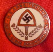 Odznaka RAD , inskrypcja N. S. ARBEITSDIENST   i ABTL. 4/305 BRAUNSCHWEIG  4 Batalion, 305 Braunschweig