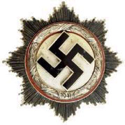 Srebrny Krzyż Niemiecki. Kriegsorden des Deutschen Kreuzes.Ustanowiony 28.09.1941r. Dla tych co mają EK 1 klasy i za szczególne akty odwagi . Projekt prof. Richard Klein