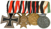 ron Cross 2nd Class, War Merit Cross 2nd Class for combatants, Sudetenland Annexation medal and Italo-German Afrika medal