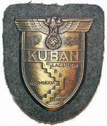 Dla uczestników walk o Kubań naszywka