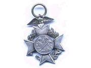 odznaka chyba strzelecka z 1924r. w srebrze graw. SCHLOCHAU 1924. E.FINKE BERLIN.
