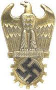 Odznak organizacji Todt - złota. Odznaczenie przyznawane za szczególne inowacje wprowadzone w czasie wojny w przemysle , infrastrukturze, i innych gałęziach gospodarki. Dostepne były czarny, srebrny, złoty