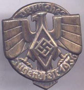 Odznaka z festiwalu Hitlerjugend z 1936 r