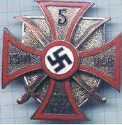 Odznaka przysługująca oddziałom kozaków współdziałających z Niemcami