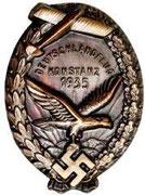 DLV odznaka lotnicza-1935 odznaka lotnicza DLV z szkoleń rejon Konstanz