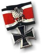 Krzyż Rycerski z liśćmi dębu,diamentami i mieczami