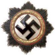 """Złoty Krzyż Niemiecki. Kriegsorden des Deutschen Kreuzes. Ustanowiony 28.09.1941r. Dla tych co mają EK 1 klasy i za szczególne akty odwagi . Projekt prof. Klein. Order ten był sklasyfikowany pomiędzy Krzyżem Żelaznym 1 klasy a Krzyżem Rycerskim"""" BORDER=""""2"""