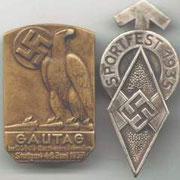 Odznaka z zawodów sportowych HJ Stutgart
