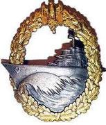 Odznaka dla załogi niszczycieli. Odniesienie ran w akcji, lub * Udział w akcji w której zatopione okręt wroga, albo * Szczególne akty męstwa * Udział w 3 spotkaniach z wrogiem, albo * w 12 patrolach morskich, albo * W udziale w bitwie o Narvik