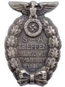Odznaka SA za ćwiczenia i zlot w 1934