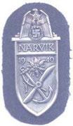 Za udział w walkach o Narvik. Ustanowiona 19,08,1940r. za kampanię od 9.04 do 9.06.1940 roku