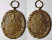 Medal dla budowniczych umocnień. Deutsches Schutzwall Ehrenzeichen
