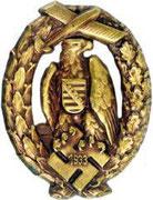 Odznaka  lotnicza rejon Saksonia 1933 Deutscher Luftsportverband (DLV)