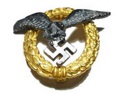 Odznaka lotnicza dowódcy 2 klasy. Odznaka przyznwana minimum dowódcom klucza