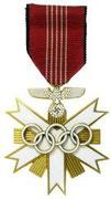 Medal olimpijski z Berlina przeznaczony dla zasłużonych gości i działaczy ruchu olimpijskiego