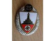 Kyffhauserbund organizacja kombatancka-odznaka wręczana członkom organizacji Kyffhauserbund w 25 rocznicę członkostwa, Kyffhauser-Bund istniał do 1933