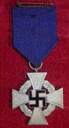 Za wysługę lat 2 klasy. krzyż srebrny dla pracowników cywilnych za 25 lat