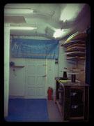 Vacuum bagging area