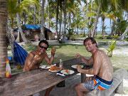 having almuerzo prepared by the Kuna Tribe people - Islas San Blas, Panama