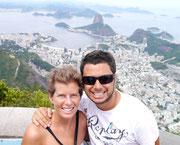 Fudgie & Dingo at Cristo Redentor, Rio de Janeiro, Brazil