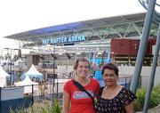 Deborah and Lois at the Brisbane International Tennis tournament (1-8 Jan 2012)