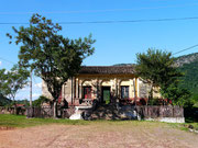 Old train station in Paraguari, Paraguay