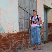 walking the VERY hot streets in Encarnacion, Paraguay
