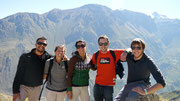with our new friends (Mercedes (Arg), Paul (Aus) & Luke (Eng) on the Colca Canyon trek