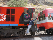 playing about on the tren from Alausi to Sibambe (Nariz del Diablo), Ecuador