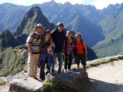 Some of the Salkantay gang at Machu Picchu, Peru