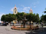 Cathedral of Granada from the plaza - Granada, Nicaragua
