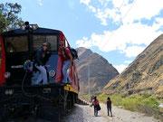 playing about on the tren from Alausi to Sibambe (Nariz del Diablo), Ecuador