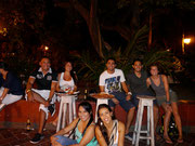 Hanging out with our CouchSurfing friend Willy Salazar and friends, Cartagena, Colombia