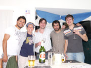 Our great host Alexis and his friends Matias and Faustino, Esquel, Argentina