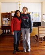 Deborah and her profesora, Paola!