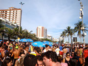 street party at Ipanema before the Sambodromo on Sunday at Carnaval, Rio de Janeiro, Brazil